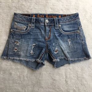 Rock Revival Amia Jeans Shorts Size 27x3""